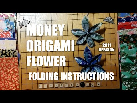 Money Origami Flower Folding Instructions Youtube