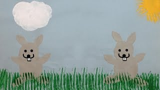 Easter Bunny Potato Printing craft