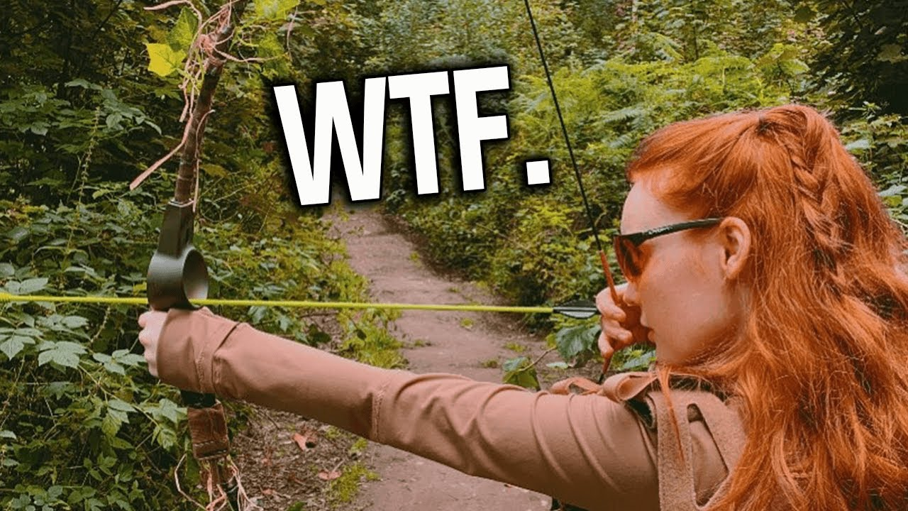 Airsoft Girl brings Bow & Arrow to the fight..