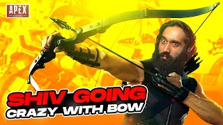 SHIVFPS GOING CRAZY WITH BOW IN SEASON 9 FIRST MATCH | SHIVFPS APEX LEGENDS SEASON 9 BEST MOMENTS