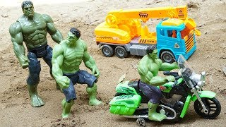 Hulk Motorbikes Rescue Construction Toys Dump Truck Escape Crocodiles   Blocks Toys - Kids and Toys