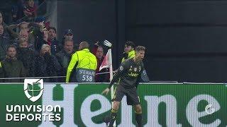 ¡SIUUUUUU! CR7 hace el 1-0 de la Juventus al Ajax con gol tremendo