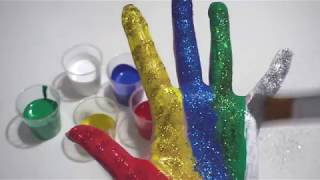 Learn Colors for Children Body Paint Learning Video