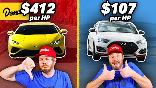 11 Cars with the Most Horsepower PER DOLLAR