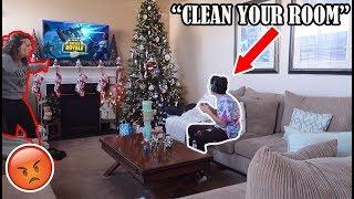 IGNORING My MOM For 24 HOURS On CHRISTMAS DAY...(SHE GOT SO UPSET)