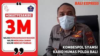 Penerapan Protokol Kesehatan dilingkungan Polda Bali