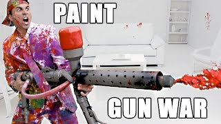 PAINT Super Soaker Battle (w/ Colin Furze)- Splatoon IRL