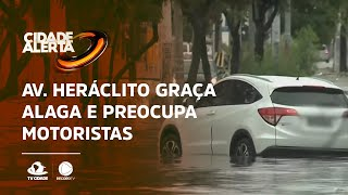 Av. Heráclito Graça alaga e preocupa motoristas