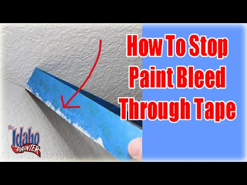 paint bleeding through your masking tape stop paint bleed. Black Bedroom Furniture Sets. Home Design Ideas