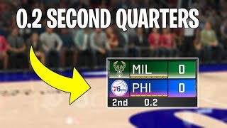 I Made Games 1 Second Long In NBA 2K20...