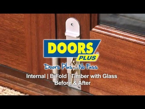 Internal Bi Fold Solid Timber With Glass Doors Plus