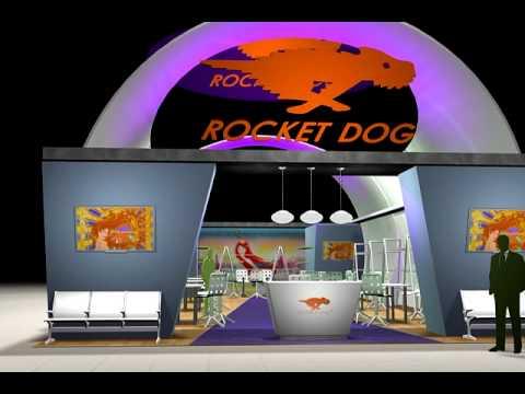 Rocket Dog 30x50 Custom Exhibit Rental