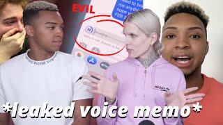 jeffree star sends NASTY voice memo to the guru that exposed him... (messy)