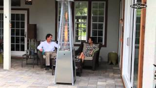 Heaters Patio Fire Sense Pyramid Flame Heater 60523