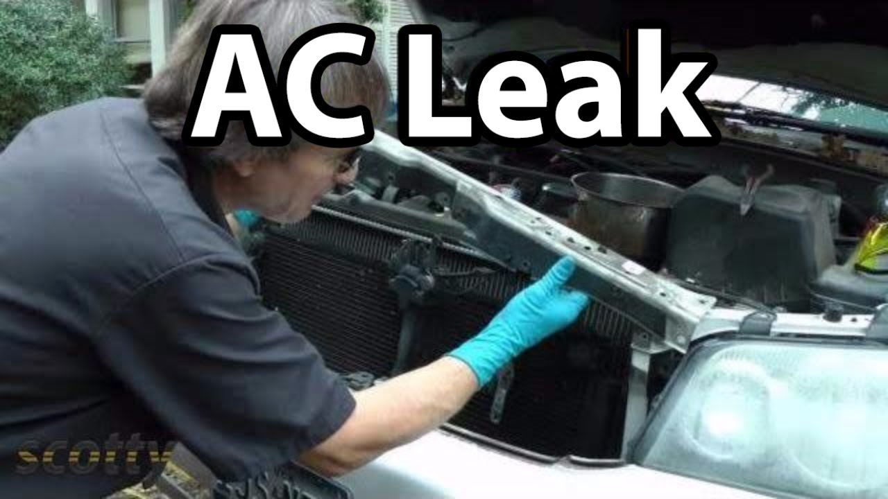 How To Fix Small AC Refrigerant Leaks On Your Car - YouTube