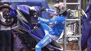 Biểu diễn xe Exciter 150 và Yamaha R3 dưới mưa tuyệt đẹp ✔
