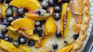 Peach Blueberry Pie 1