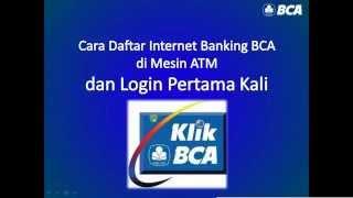 Cara daftar Internet Banking BCA KlikBCA di mesin ATM