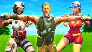 GIRLS FIGHT OVER HOW TO SAVE A NOOB!! *NEW SKINS* - A Fortnite Short Film