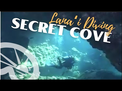 """Secret Cove"" dive site off Lanai with Extended Horizons Scuba, Maui, Hawaii"