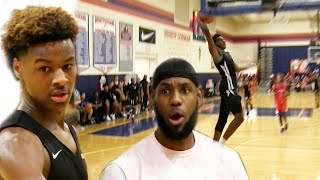 LeBron James COACHES Blue Chips To The FINALS! Bronny James ICES Game With BIG DUNK!