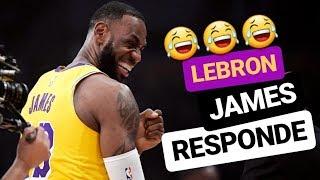 MENSAJE de LeBron JAMES a sus ENEMIGOS EN Los Ángeles | NBA Lakers en español