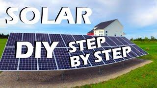 DIY 9kW Grid Tie Ground Based Home Solar Array Install
