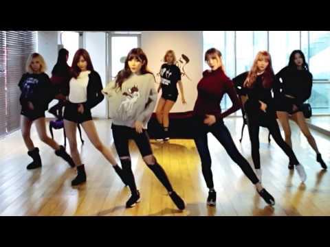 9MUSES - Sleepless Night - mirrored dance practice video - 나인뮤지스 잠은 안오고 배는 고프고 안무 연습영상