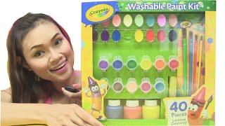 Mở Bộ Tô Màu Crayola Washable Paint Kit Mỹ - Tô Màu Nàng Tiên Bướm & AI TINH MẮT HƠN [CHỊ BÍ ĐỎ]