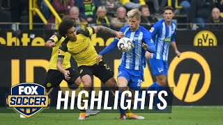 Borussia Dortmund vs. Hertha BSC Berlin | 2018-19 Bundesliga Highlights