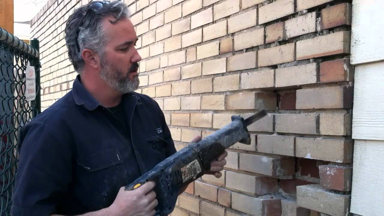 Removing And Replacing Rotten And Damaged Bricks