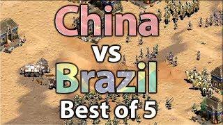 AoE2 2v2 World Cup | China vs Brazil!