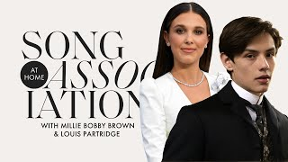 Millie Bobby Brown and Louis Partridge Sing Dua Lipa & More in a Game of Song Association | ELLE