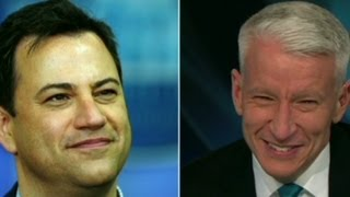Jimmy Kimmel on Anderson Coope's laughing