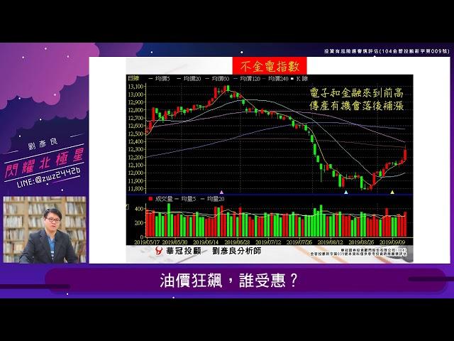 【閃耀北極星】 #劉彥良 0916,油價狂飆,誰受惠?