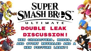 Smash Ultimate | DOUBLE LEAK DISCUSSION! | NEW CHARACTERS, AND STORY REVEALED + PICTURE LEAK?!?