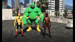 GTA 5 - Flashman tương lai lạc trôi về quá khứ hội ngộ Ông nội và khỉ Flash  (phim đặc sắc) | GHTG