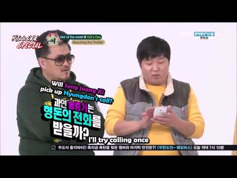 [CUT] 121219 Girl's Day Fangirling Over Song Joong Ki [ENG SUB]