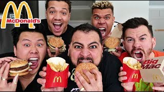 EPIC McDONALD'S BIG MAC MEAL SPEED EATING CHALLENGE!! (UNDER 1 MINUTE)