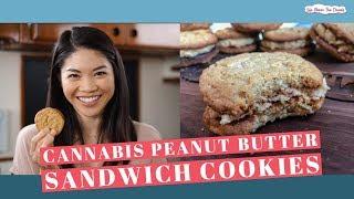 Cannabis Peanut Butter Sandwich Cookies