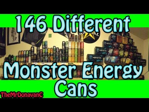 Monster Energy Collection update (146 different cans)