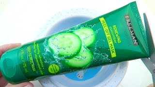 Will it Slime?Testing Cucumber Peel Off Face Mask! Slime DIY