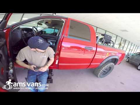 Truck Stow-Away Seat, Wheelchair Lift   AMS Vans