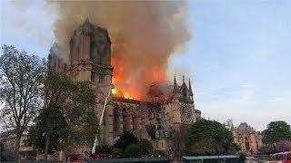 巴黎圣母院遭遇严重火灾损失惨重 法国总统马克龙含泪宣布重建 | 小央视频