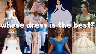 ranking 10 different versions of cinderella's ballgown 💎💫🧚🏻♀️
