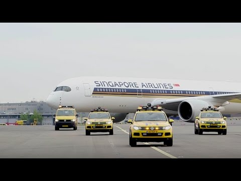 First Singapore Airlines Airbus A350-900 flight at Amsterdam, Netherlands
