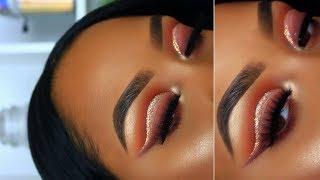 Smokey Glitter Cut Crease | Makeup Tutorial