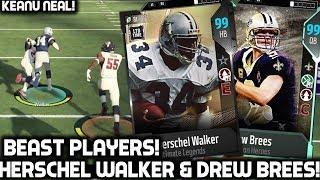 99 DREW BREES & HERSCHEL WALKER ARE ANIMALS! Madden 18 Ultimate Team