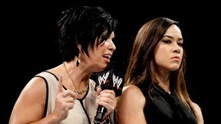Vickie Guerrero demands an apology from AJ Lee: Raw, Sept. 3, 2012