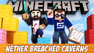 Minecraft Nether Breached Caverns - EP27 - The End!